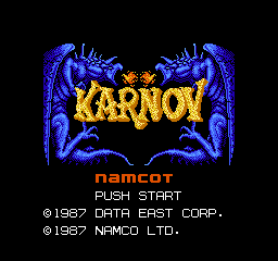 Karnov (Japan) Title Screen