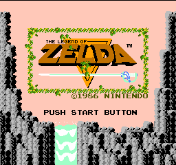 Legend of Zelda, The (Europe) Title Screen