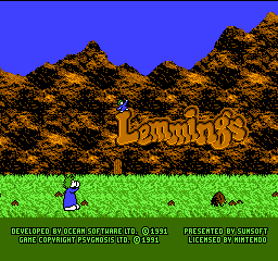 Lemmings (USA) Title Screen
