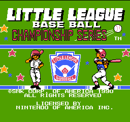 Little League Baseball - Championship Series (USA) Title Screen