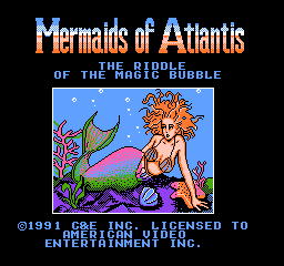 Mermaids of Atlantis - The Riddle of the Magic Bubble (USA) (Unl) Title Screen