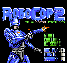 RoboCop 2 (Japan) Title Screen