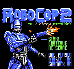 RoboCop 2 (USA) Title Screen