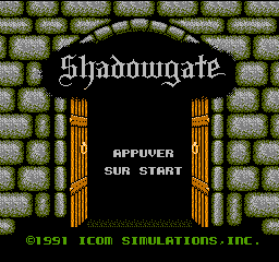 Shadowgate (France) Title Screen