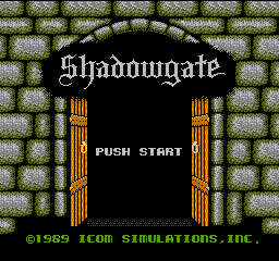 Shadowgate (Japan) Title Screen
