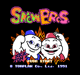 Snow Bros. (Japan) Title Screen