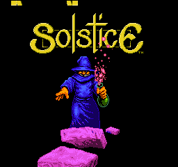 Solstice - The Quest for the Staff of Demnos (USA) Title Screen