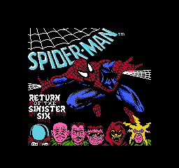 Spider-Man - Return of the Sinister Six (USA) Title Screen