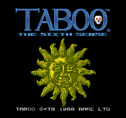 Taboo - The Sixth Sense (USA) Title Screen