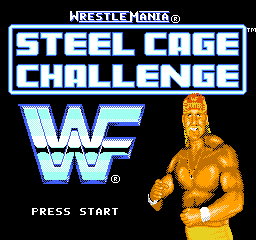 WWF Wrestlemania Steel Cage Challenge (USA) Title Screen
