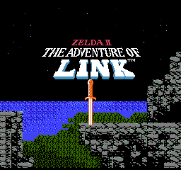 Zelda II - The Adventure of Link (USA) Title Screen