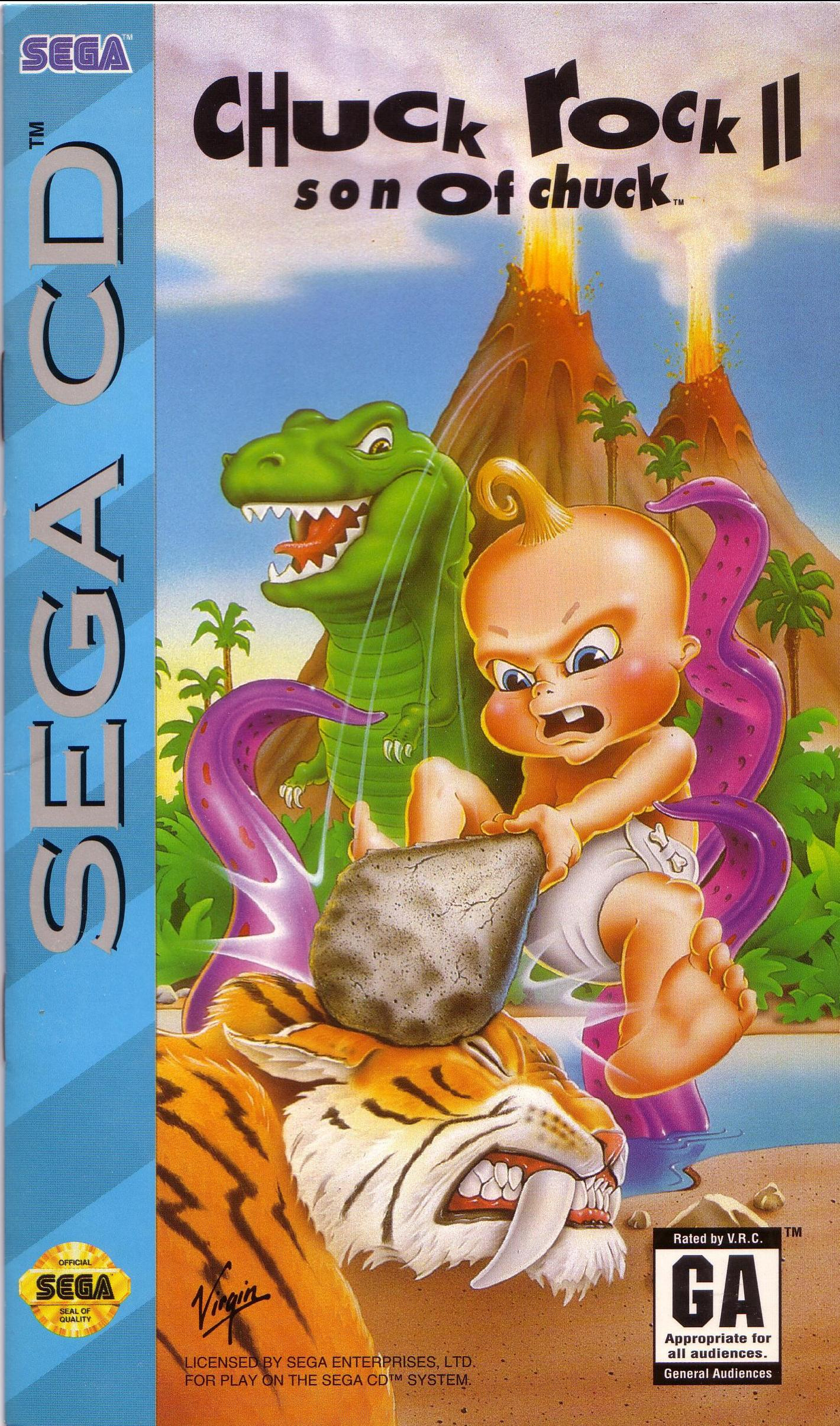 Chuck Rock 2 - Son of Chuck (U) Front Cover