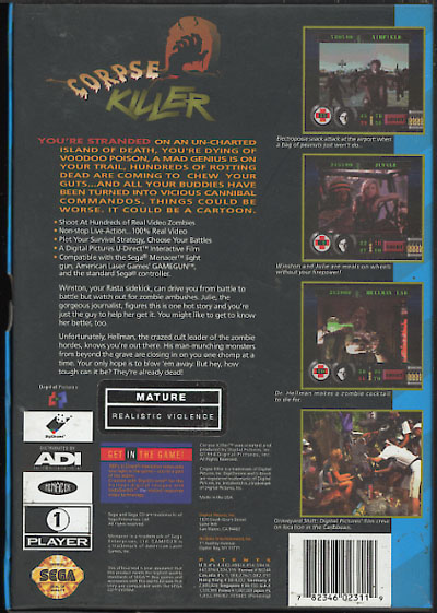 Corpse Killer (U) Back Cover