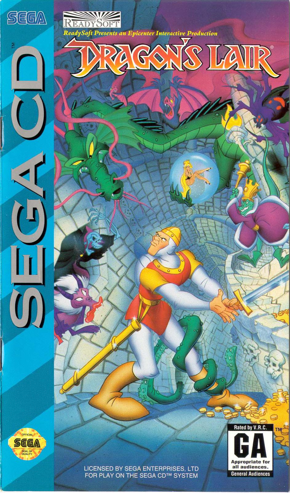 Dragon's Lair (U) Front Cover