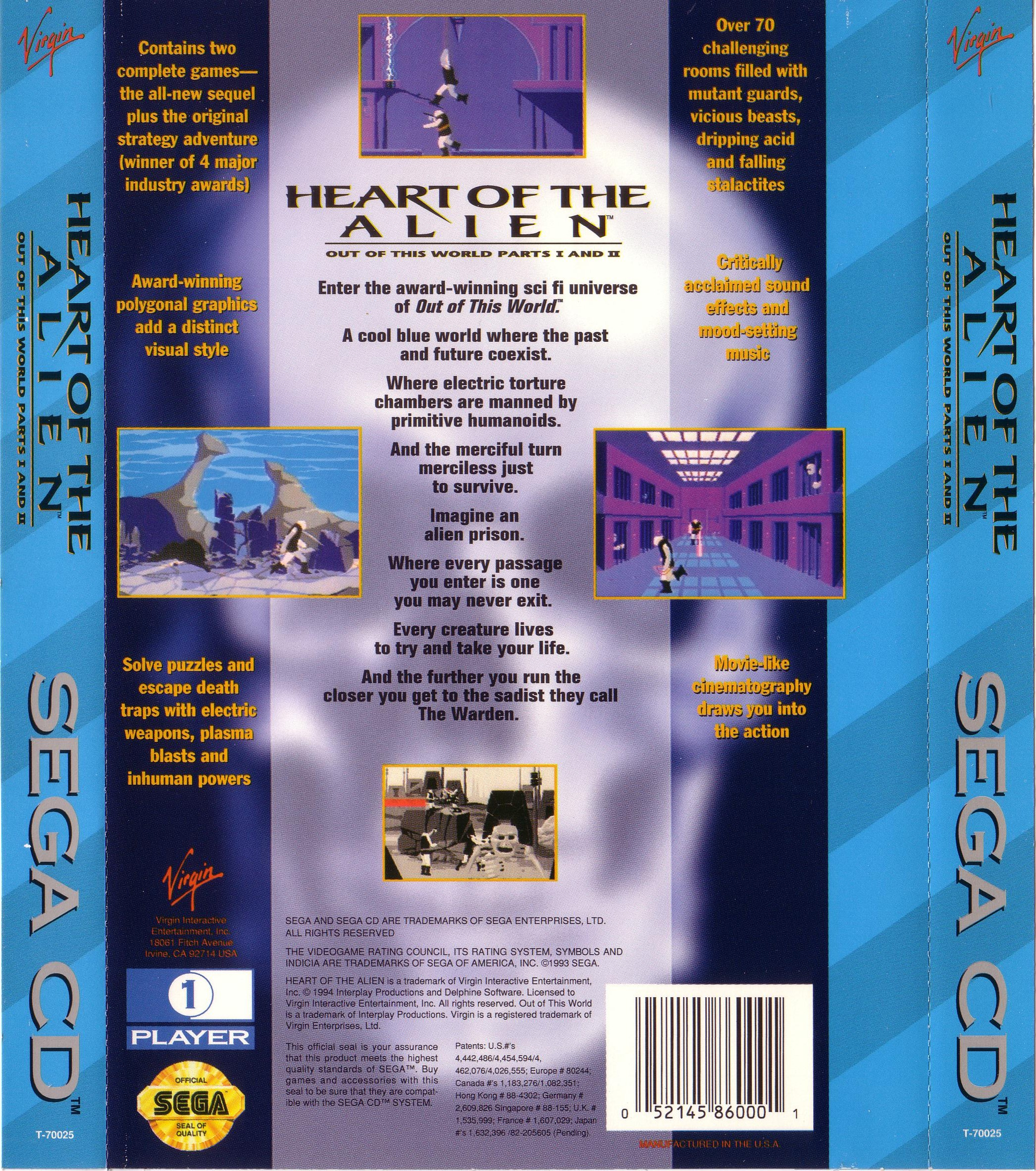 Heart of the Alien - Out of This World Part I & II (U) Back Cover