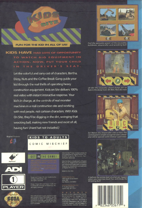 Kids On Site (U) Back Cover