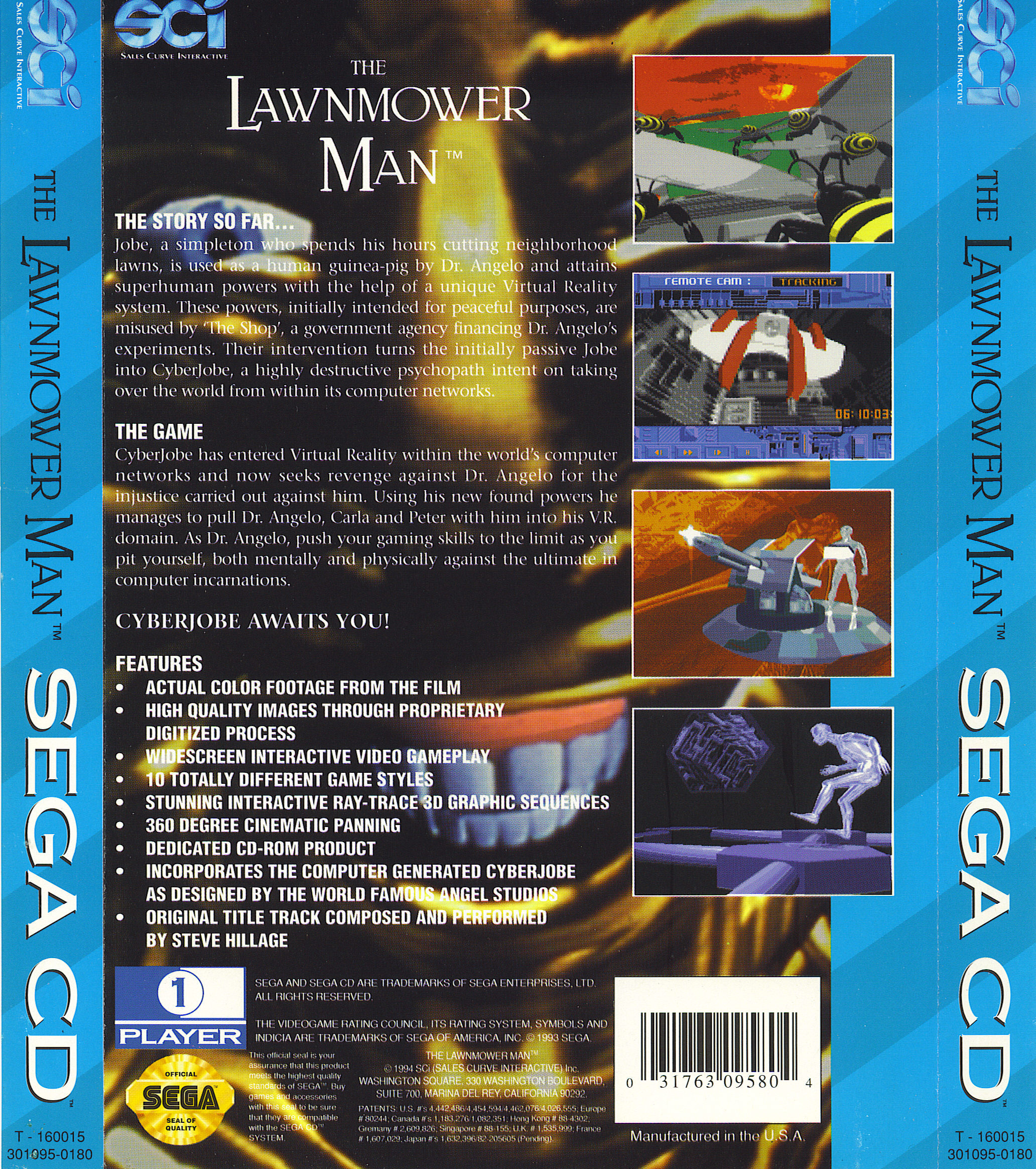 Lawnmower Man, The (U) Back Cover