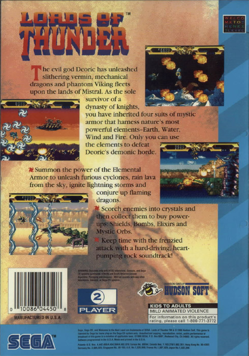 Lords of Thunder (U) Back Cover