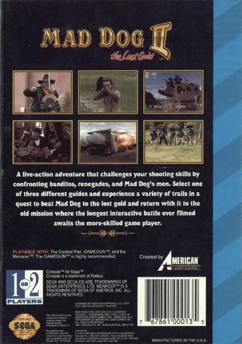 Mad Dog McCree II - The Lost Gold (U) ISO < SegaCD ISOs