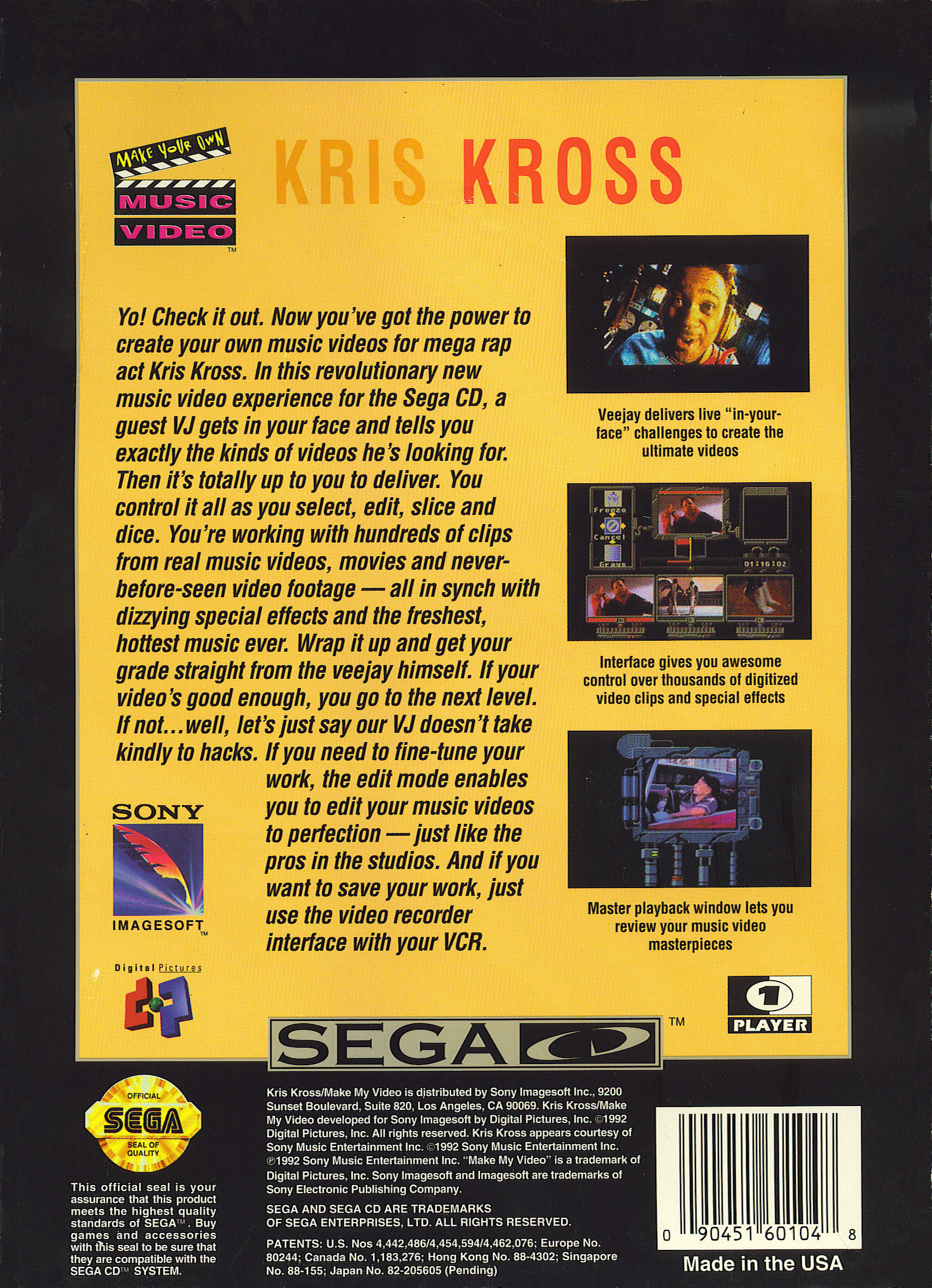 Make My Video - Kris Kross (U) Back Cover