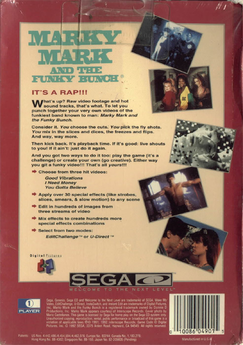 Make My Video - Marky Mark And The Funky Bunch (U) Back Cover