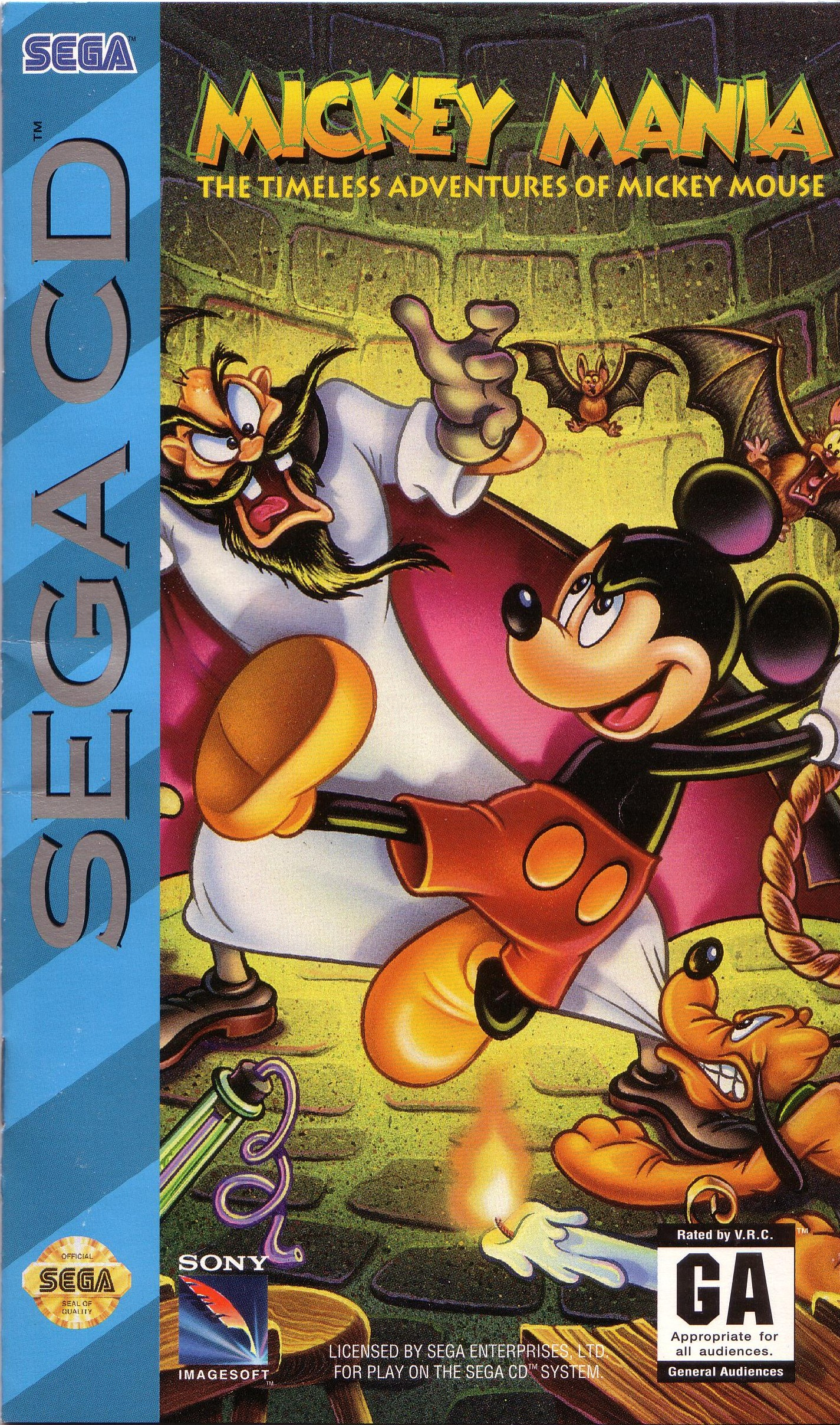 Mickey Mania - The Timeless Adventures Of Mickey Mouse (U) Front Cover