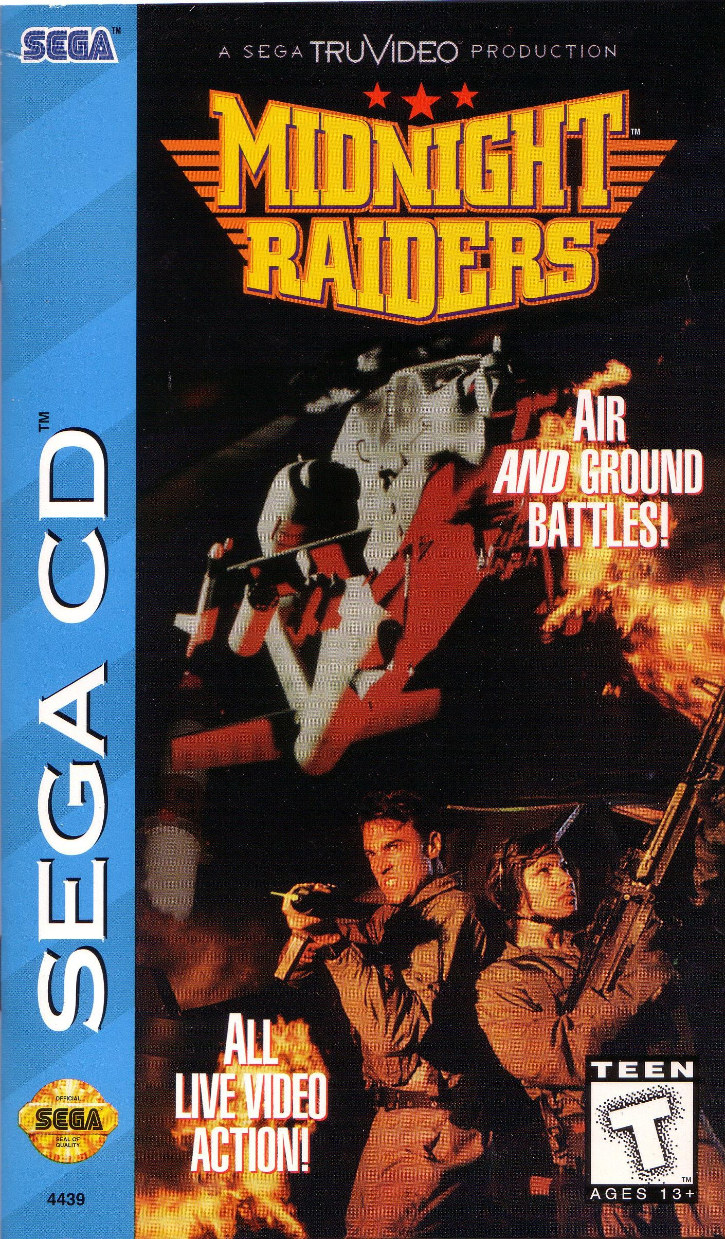 Midnight Raiders (U) Front Cover