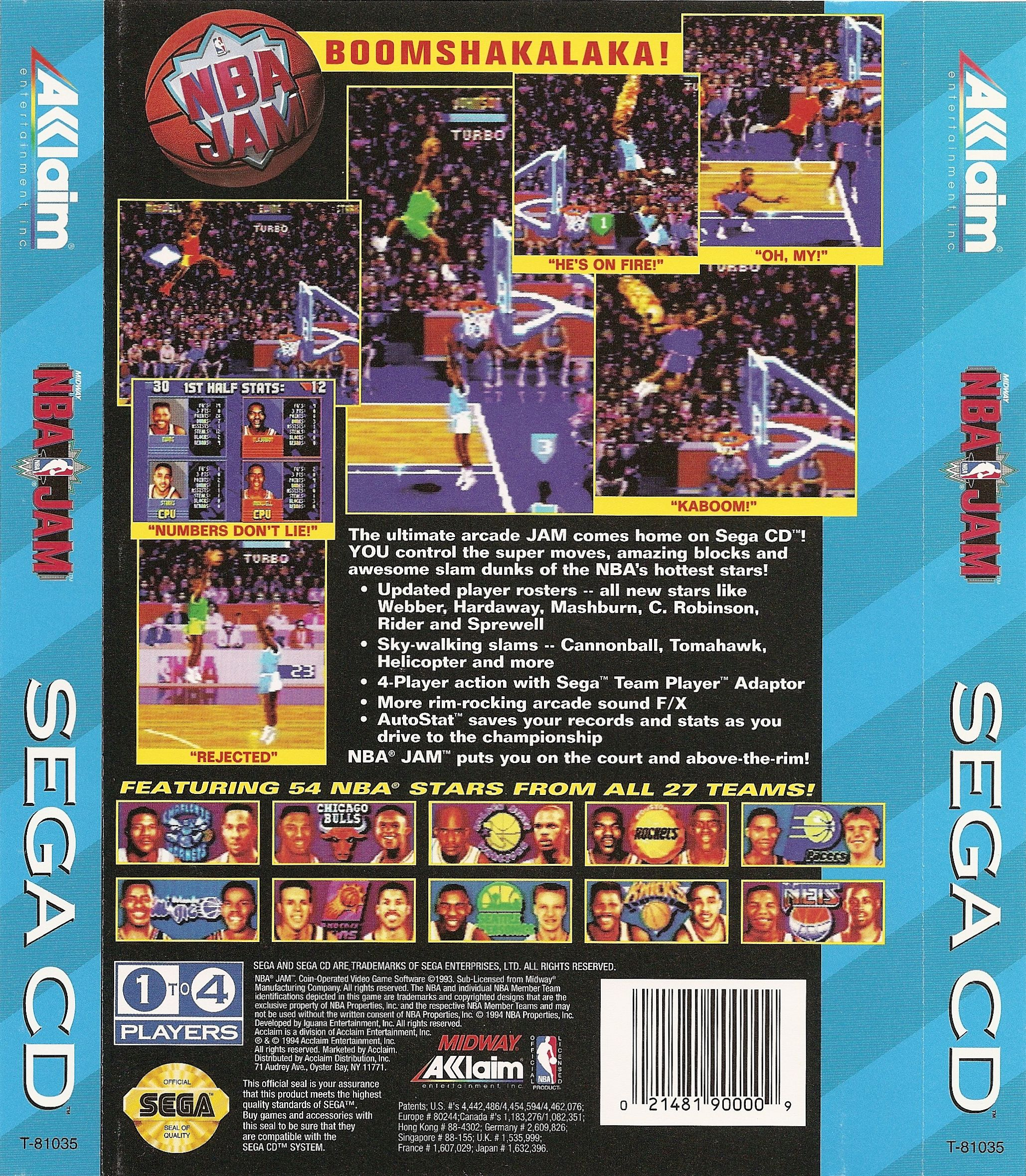 NBA Jam (U) Back Cover