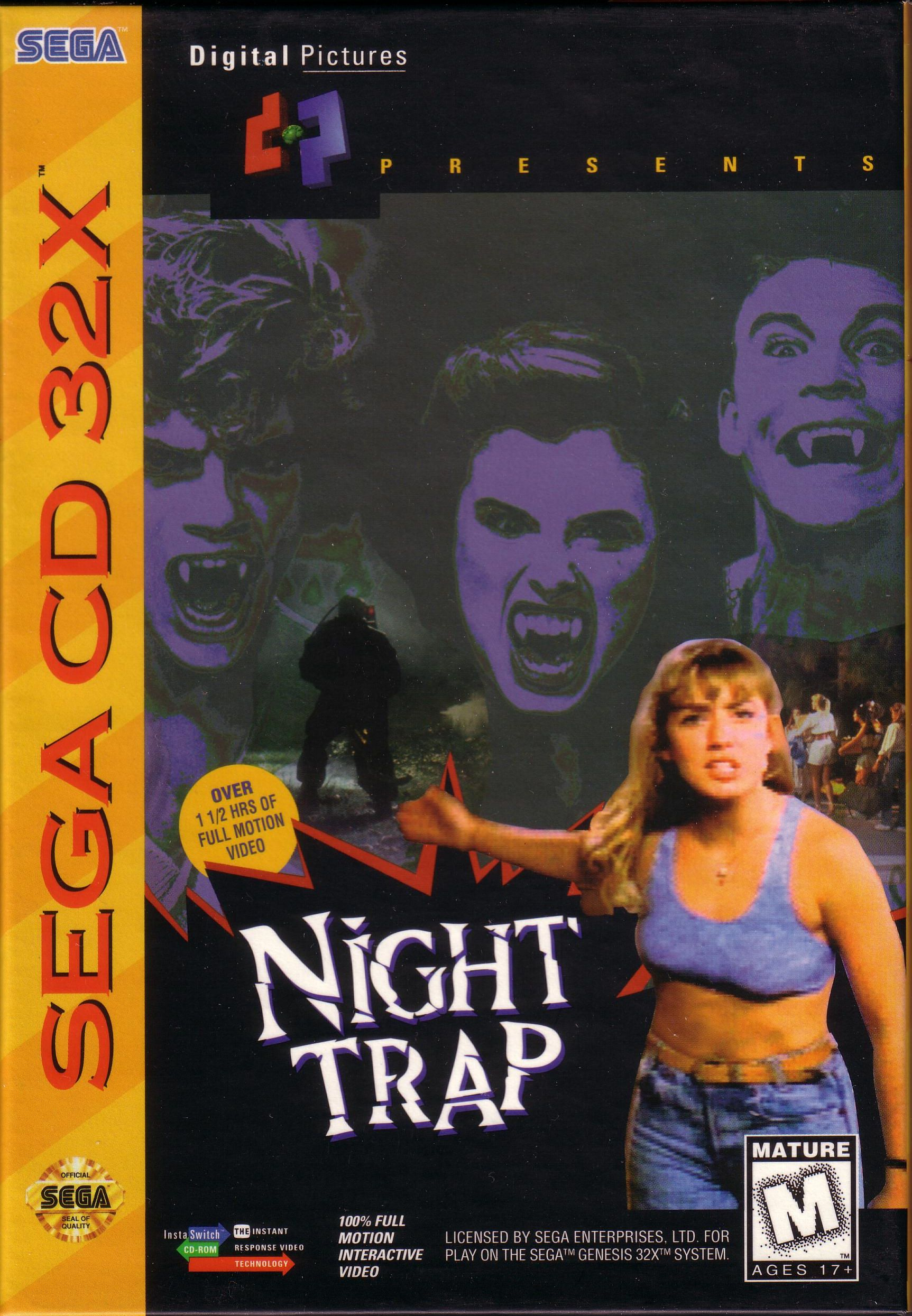 Night Trap (32X) (U) Front Cover