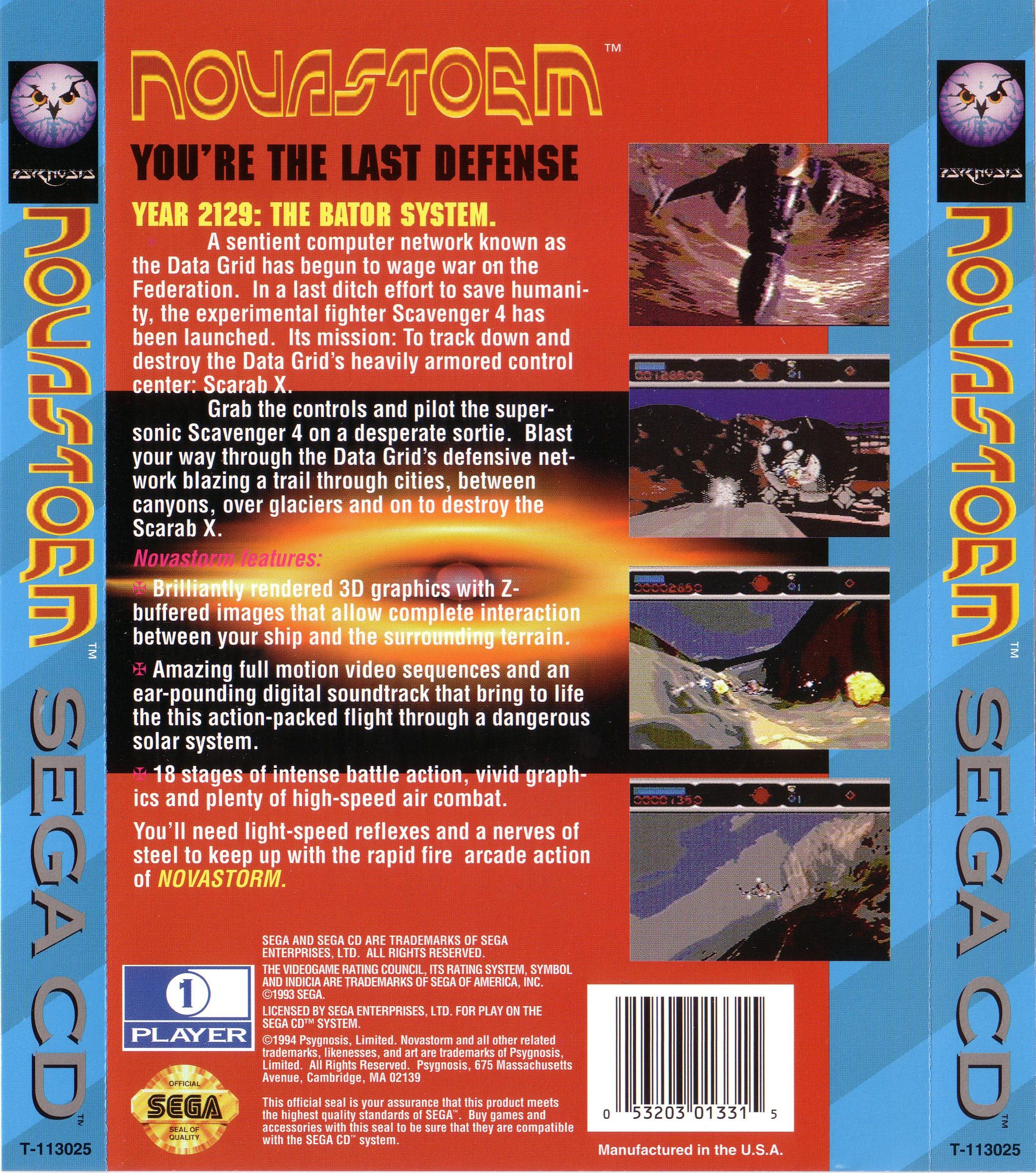 Novastorm (U) Back Cover