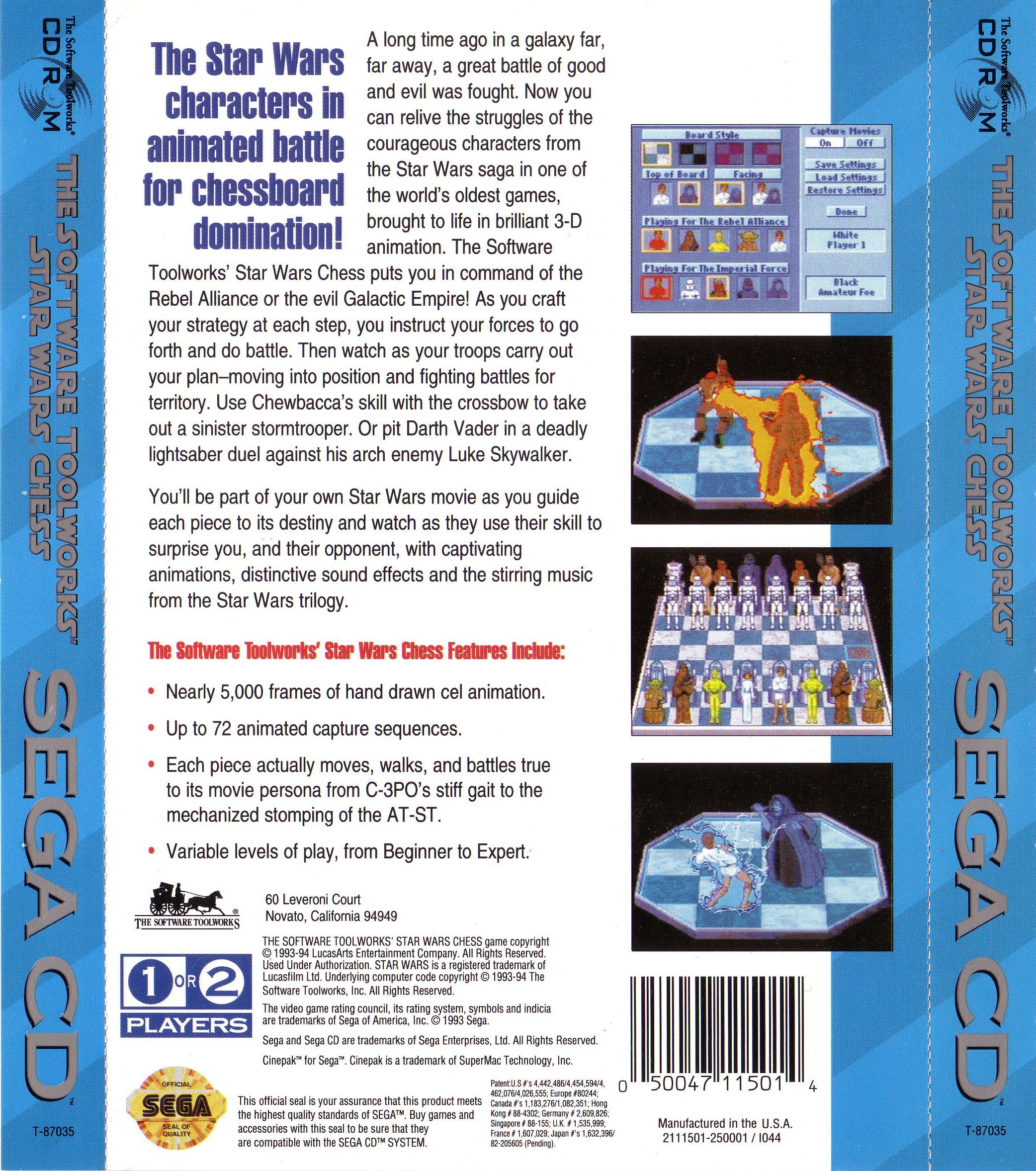 Star Wars Chess (U) Back Cover