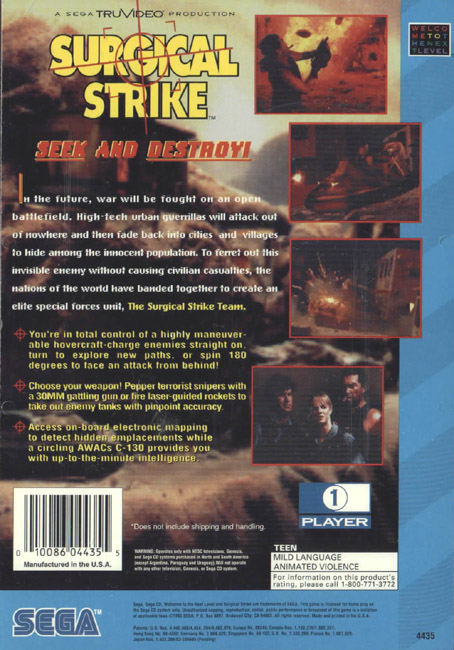 Surgical Strike (U) Back Cover