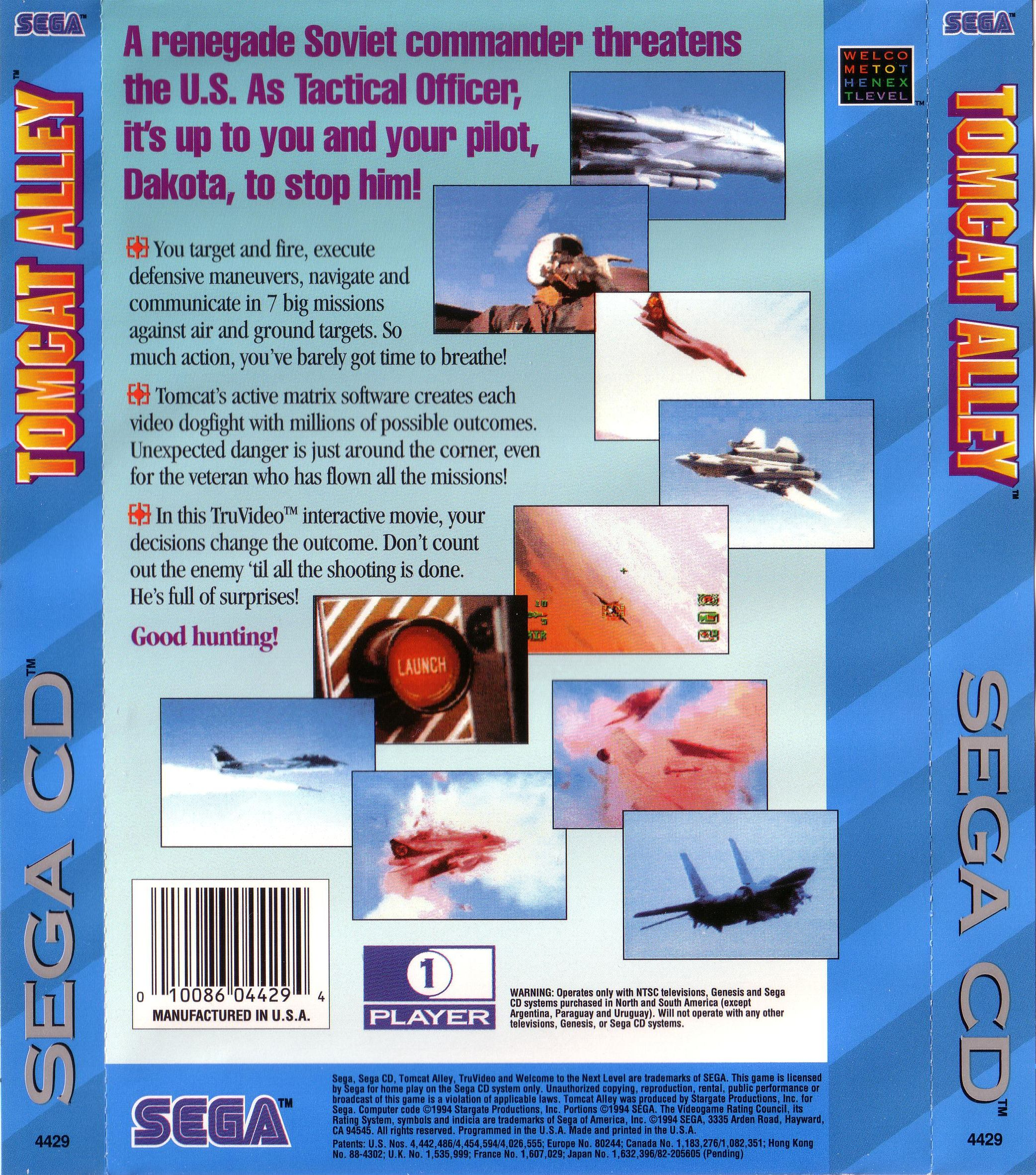 Tomcat Alley (U) Back Cover