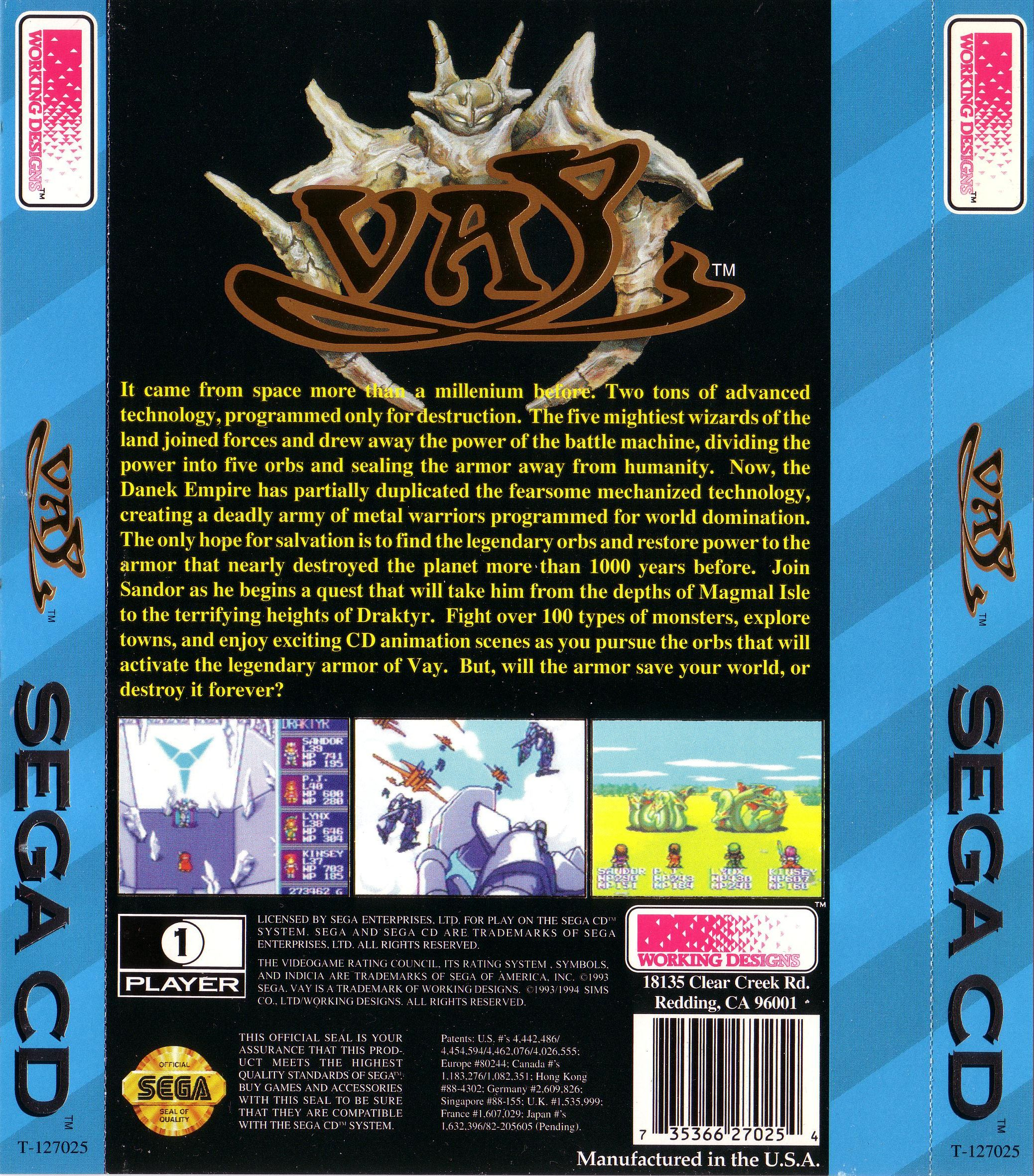 Vay (U) Back Cover