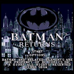 Batman Returns (U) Title Screen