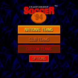 Championship Soccer '94 (U) Title Screen