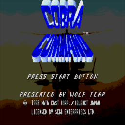 Cobra Command (U) Title Screen