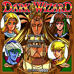 Dark Wizard (U) Title Screen