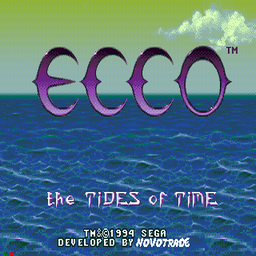 Ecco - The Tides Of Time (U) Title Screen