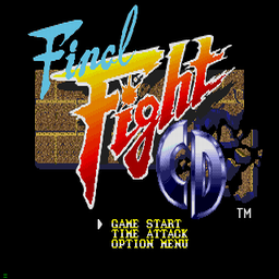 Final Fight CD (U) Title Screen