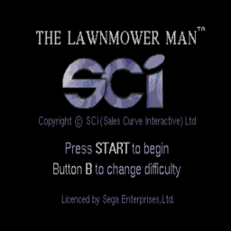 Lawnmower Man, The (U) Title Screen
