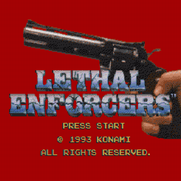 Lethal Enforcers (U) Title Screen