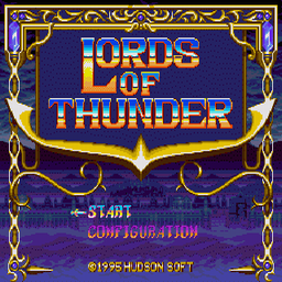 Lords of Thunder (U) Title Screen