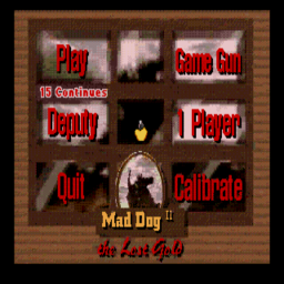 Mad Dog McCree II - The Lost Gold (U) Title Screen