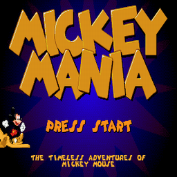 Mickey Mania - The Timeless Adventures Of Mickey Mouse (U) Title Screen