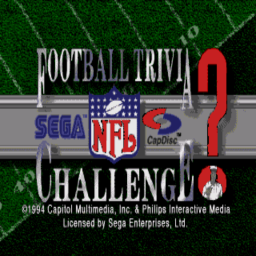 NFL Football Trivia Challenge (U) Title Screen