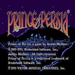 Prince of Persia (U) Title Screen