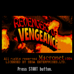 Revengers of Vengeance (U) Title Screen