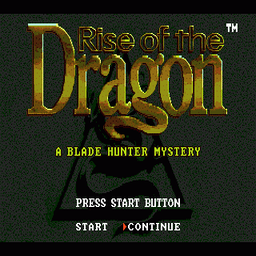 Rise of the Dragon (U) Title Screen