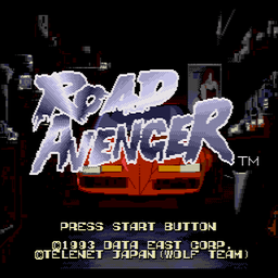Road Avenger (U) Title Screen